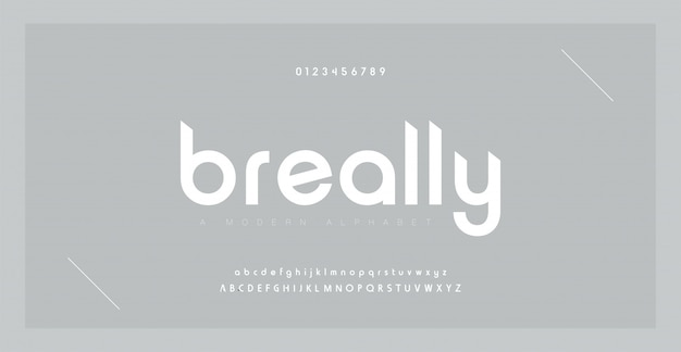최소한의 글꼴 창조적 인 현대 알파벳입니다. 점 규칙 및 숫자가있는 타이포그래피. 미니멀 스타일 글꼴을 설정합니다.