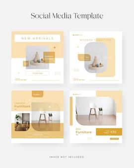 Minimal furniture sale banner or instagram social media post template