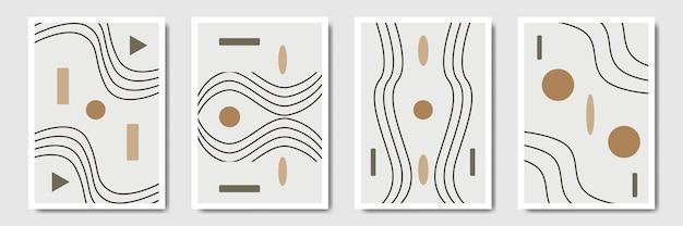 Минимальный геометрический абстрактный современный стиль середины века