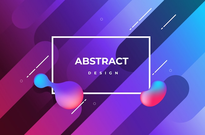Minimal geometric background with fluid effect