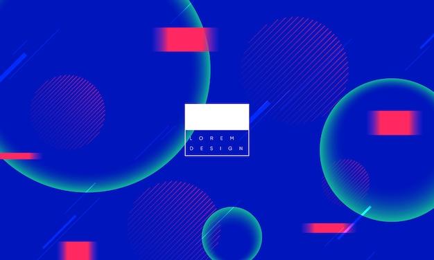 グリッチ効果による最小限の幾何学的背景。