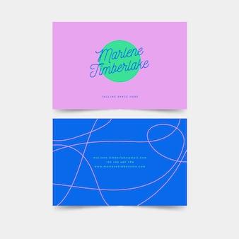 Minimal geometric business card template