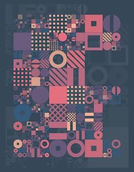 Minima composizione geometrica per copertina