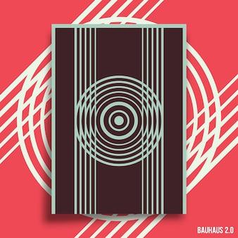 전단지, 포스터, 브로셔 표지, 인쇄술 또는 기타 인쇄 제품에 대한 최소한의 기하학적 디자인 배경 설정. 벡터 일러스트 레이 션.