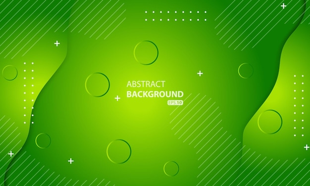 Minimal geometric green background. dynamic shapes composition.