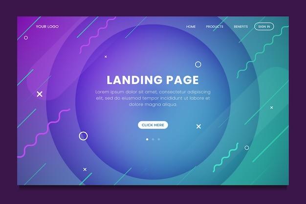Minimal geometric landing page template