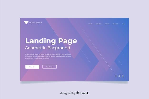 Minimal geometric landing page
