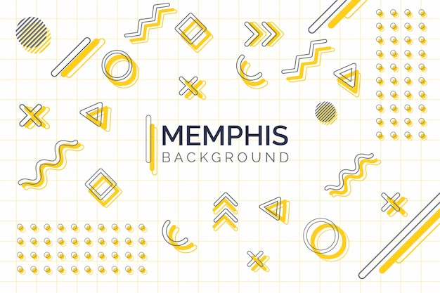 Minimal geometric memphis background with modern simple elements.
