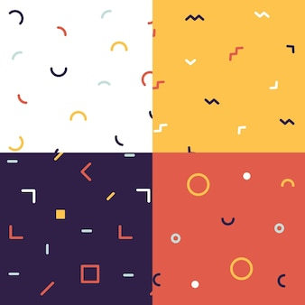 Minimal geometric pattern collection concept