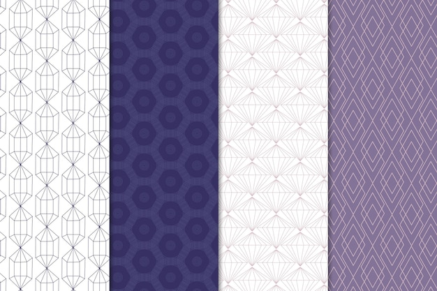 最小限の幾何学模様のコレクションのテーマ