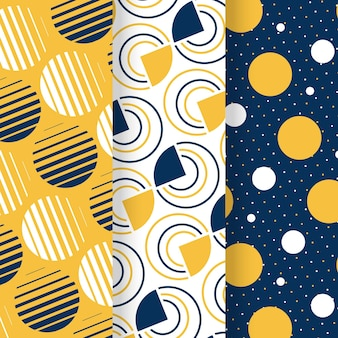 Minimal geometric pattern collection theme