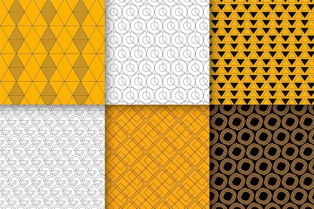 Minimal geometric pattern collection