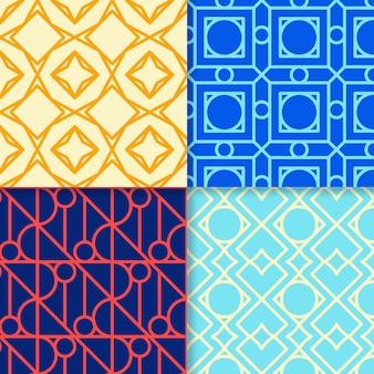 Collezione di motivi geometrici minimal