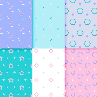 Minimal geometric pattern set style