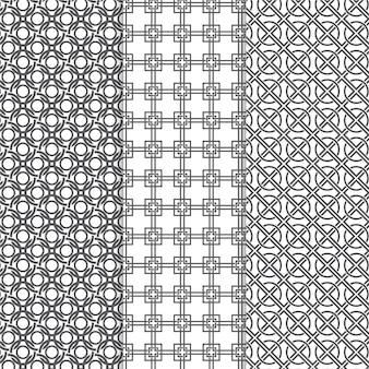 Набор минимальных геометрических узоров