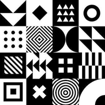 최소한의 기하학적 패턴 벡터 디자인입니다. 최소한의 기하학적 배경입니다. 모양과 간단한 배경입니다.