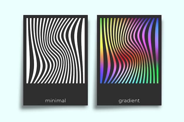最小限の幾何学的なポスターデザイン。