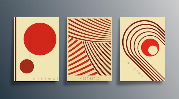 Минимальный геометрический дизайн плаката.