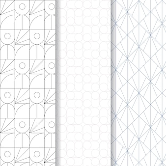 最小限の幾何学的なシームレスパターンテンプレート