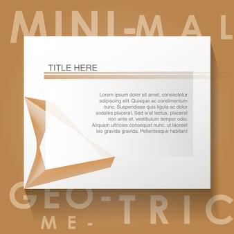 Minimal geometric template label