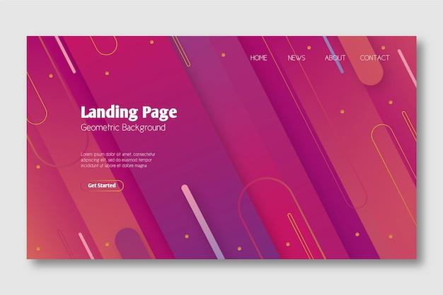 Minimal geometric template landing page