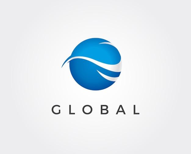 Minimal global logo template