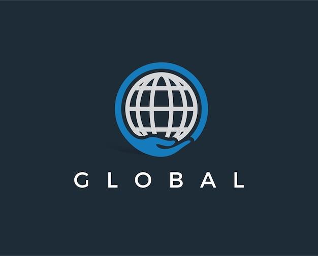 Минимальный глобальный шаблон логотипа
