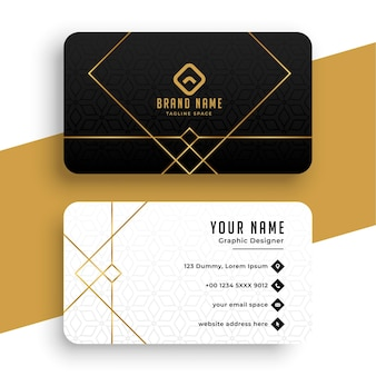 Minimal golden business card template