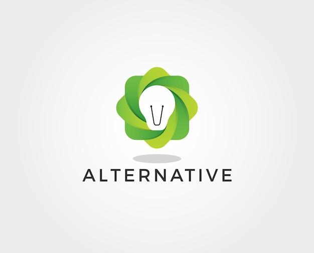 Minimal green logo template