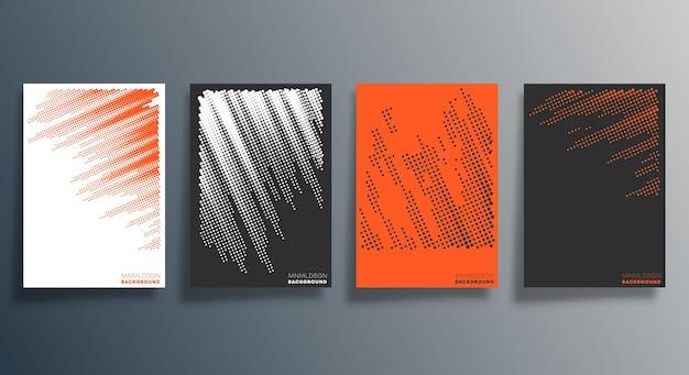 传单、海报、宣传册封面、背景、墙纸、印刷品或其他印刷品的最小半色调设计。矢量图解。