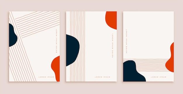 Design minimale del poster rosso nero disegnato a mano con lo spazio del testo