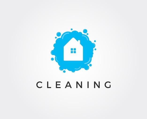 최소한의 집 깨끗한 로고 템플릿