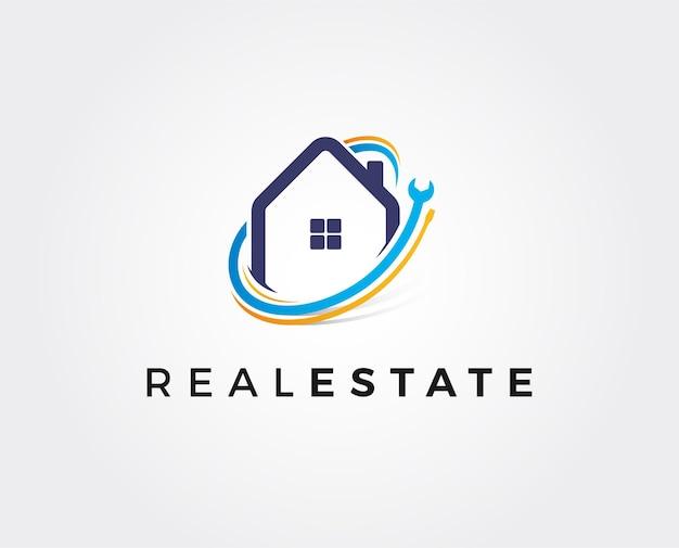 Minimal home repair logo template