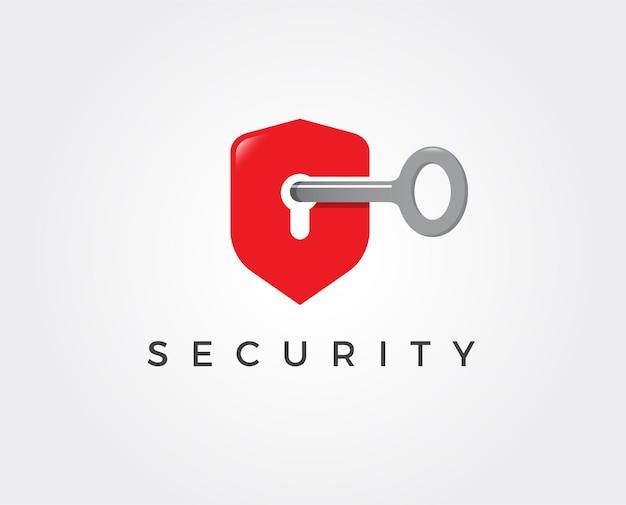 Минимальный шаблон логотипа домашней безопасности