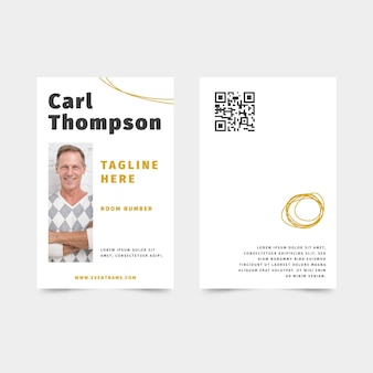 Minimal id card template