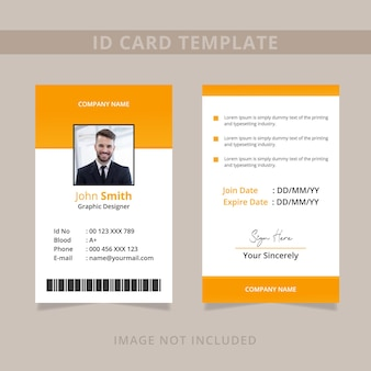 Minimal id card template