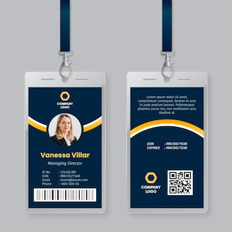 Minimal id cards template concept