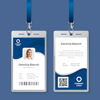 Minimal id cards template style