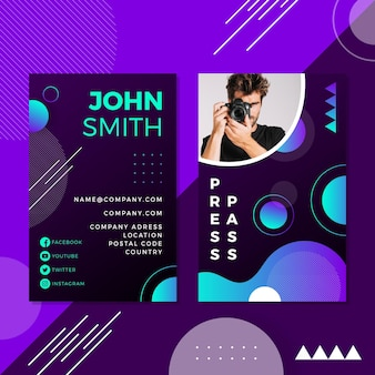 Minimal id cards template with image