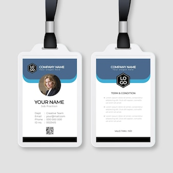 Minimal id cards template with photo