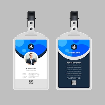 Minimal id cards template