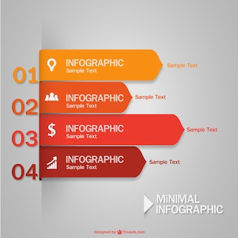 Minimal infographic in red and yellow tones