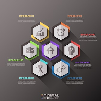 Minimal infographic options template