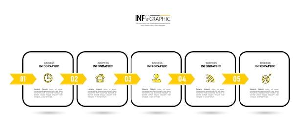 Минимальный дизайн шаблона инфографики.