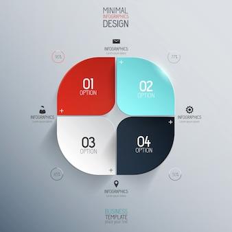 Minimal infographics design