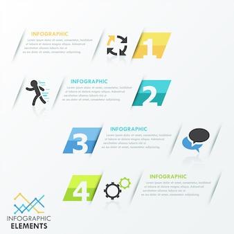 Minimal infographics options template