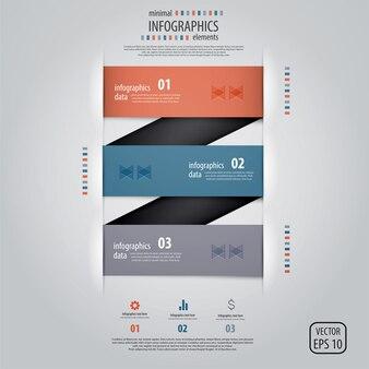 Minimal infographics .