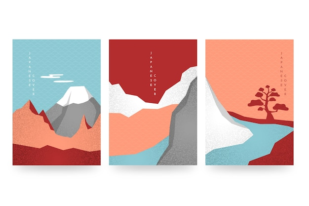 Minimal japanese cover collection theme