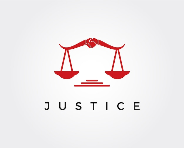 Минимальный шаблон логотипа правосудия