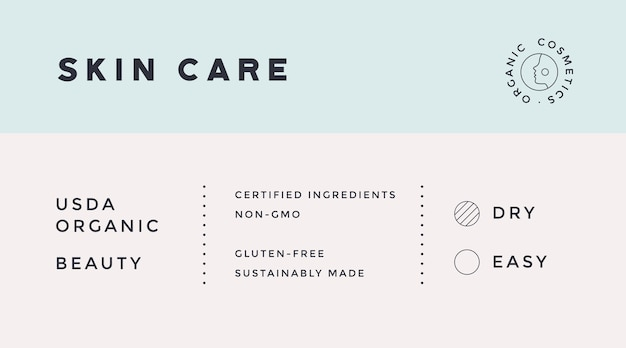 Minimal label. typographic modern vintage label, tag, sticker for natural brand, beauty packing.